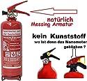 2 kg ABC Pulver Feuerlöscher NEU Orginalverpackt Brandklasse ABC , EN3 , Messingarmatur + Sicherheitsventil + Manometer / KFZ halter , Pulverlöscher Auto