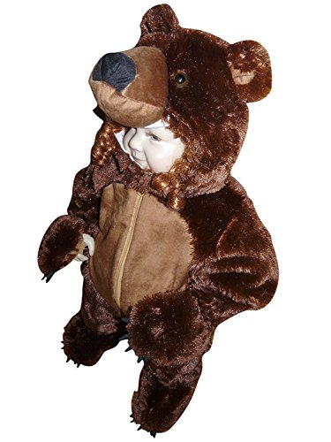 F67 Brown Bear Costume for Babies and Toddlers, to wear on your regular Clothes Size – 29