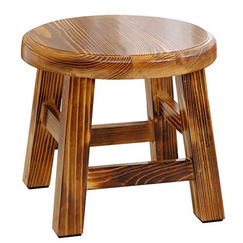 DJL Kleine houten bank - grenen kruk huis massief hout volwassen salontafel kruk bank schoen bank