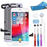 BeeFix Screen Replacement for iPhone 7 White, 4.7' LCD Display and 3D Touch Digitizer Full Assembly, with Proximity Sensor,Front Facing Camera,Earpiece Speaker and Repair Tools,for A1660, A1778, A1779