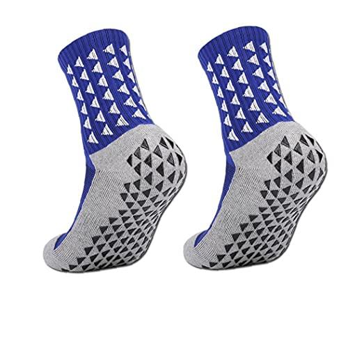 EElabper Anti Slip Fútbol No Calcetines del Resbalón Grip Fútbol Baloncesto Hockey Deportes Calcetines para Adultos Hombres Mujeres