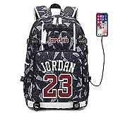 Lorh's store Jugador de Baloncesto Estrella Michael Jordan Mochila multifunción Estudiante de Viaje Mochila para fanáticos para Hombres Mujeres (Estilo 9)