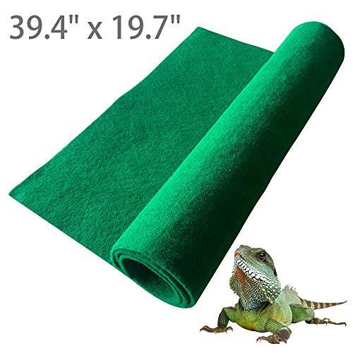 "BLSMU Reptile Carpet,Terrarium Liner,Lizard Cage Liner,Tortoises Heat Mat,Chameleon Bedding,Iguana Substrate,Reptile Mat for Bearded Dragon,Turtles,Snake (39.4"" x 19.7"")"