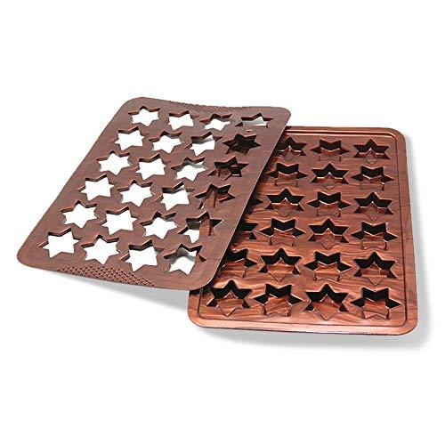 SGR SHOPS Silikon-Schokoladenformen, Schokoriegelformen, Antihaft-Zerlegungsprotein und Energieriegel, Eiswürfelschale Süßigkeitenform Küche Backform Zimtsterne