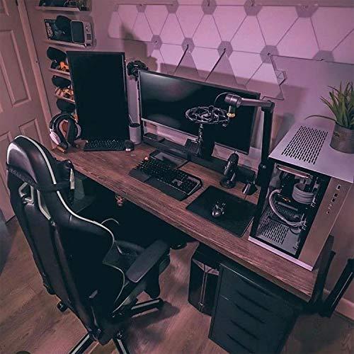 LIEVD Gaming Mauspad | 280 x 200 mm | Schreibtischunterlage abwischbar |Mousepad rutschfest für verbesserte Geschwindigkeit | Tischunterlage wasserabweisend | PC Matte – Schwarz