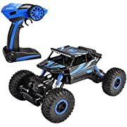 SZJJX P1802 Road Vehicle 2.4Ghz 4WD High Speed 1:18 RC Remote Radio Control Rock Electric Buggy Hobby Car Fast Race Crawler-Blue