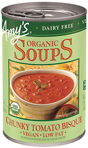 Amy's Organic Soups, Vegan Tomato Bisque, 14.1 Ounce (Pack of 12)