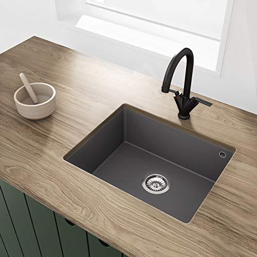 Pyramis BeBa_26203 Madison Iron Grey 1B Undermount Granite Composite Kitchen Sink 500 x 400