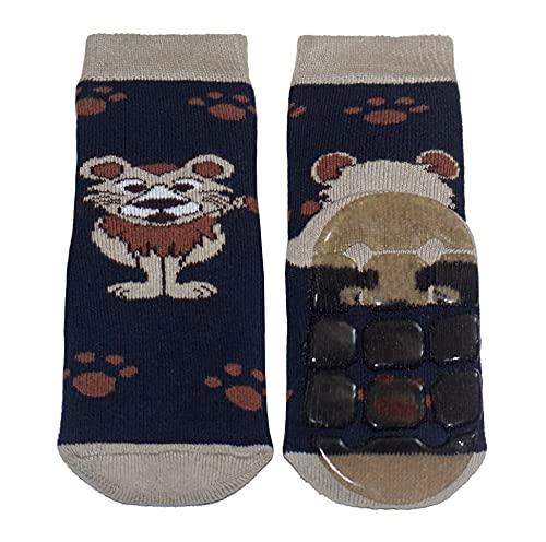 Weri Spezials - Calcetines antideslizantes para bebé y niños, diseño de animales divertidos, varios diseños y colores León marino. 23-26