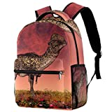 Dinosaur Stegoceras Backpack Students Shoulder Bags Travel Bag College School Backpacks