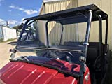 A&S AUDIO AND SHIELD DESIGNS 2009-2021 KAWASAKI MULE 4000,4010 TRANS 1/4 POLYCARBONATE FLIP UP WINDSHIELD