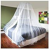 com-four® Protection Contre Les Insectes avec matériel de Fixation, moustiquaire pour lit Double, lit Simple - moustiquaire comme Protection Contre Les Insectes en Blanc (1 pièce - 1200x250x60cm)