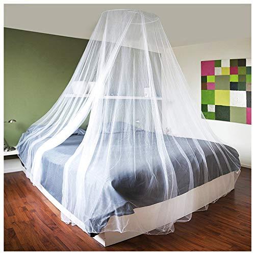 com-four® Insektenschutz mit Befestigungsmaterial, Moskitonetz für Doppelbett, Einzelbett - Mückennetz als Insektenschutz in weiß - 1200 x 250 x 60 cm (1 Stück - 1200x250x60cm)
