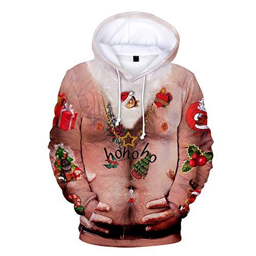 Mr.BaoLong&Miss.GO Suéteres De Moda Masculina De Otoño E Invierno, Ropa De Pareja, Suéteres Navideños, Sudaderas con Capucha, Suéteres, Ropa Infantil Navideña