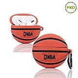 ZAHIUS Airpods Pro Silikon Hülle Lustige Abdeckung Kompatibel mit Airpods Pro [Retro-Serie] Mädchen (Basketball)