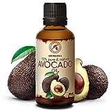 Avocadoöl 50ml - Kaltgepresst & Raffiniert - Südafrika - 100% Natürlich & Reines - Basisöl - Reich an Vitamin E - Pflege für Gesicht - Körperpflege - Haare - Massage