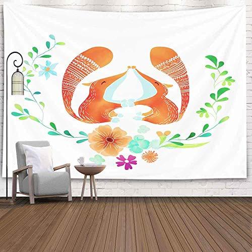 BFNBRLOR Tapiz de pared, 80 x 60 pulgadas, plantilla de boda, día de San Valentín, madres, cumpleaños, tapiz para colgar en la pared, para dormitorio, sala de estar o casa