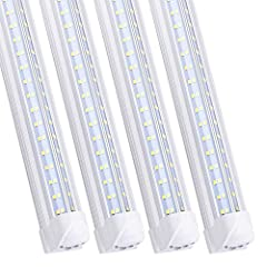 ✔ FAST DELIVERY - These 4 Rows V Shaped 120W Linkable LED Tube Light Will Ship from NJ Or CA warehouse via FedEx,2-7 days delivered. ✔ SCIENTIFIC DESIGN - These 8FT LED Shop Light Fixtures give 270 degree lighting with no wasted light, the LED Chip(7...