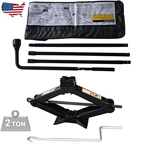 Bowoshen Spare Tire Tool Kit for Chevy Silverado GMC Sierra Lug Wrench Set with 2T Scissor Jack Easy to Operate