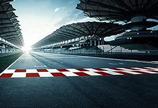 Baocicco 12x10ft F1 Racing Car Tracks Photography Backdrop Background Empty Courses Sports Club Sports Theme F1 Match Vinyl Photo Studio Props
