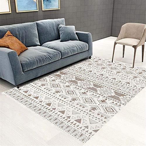 RUGMRZ Big Rugs For Living Room Carpet light gray geometric stripes pattern soft salon rug modern style Outdoor Carpets Mats And Rugs grey 40X60CM