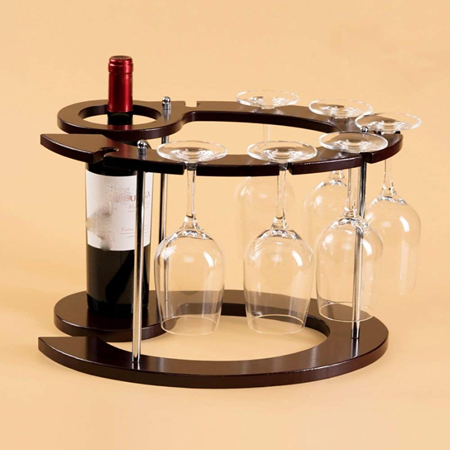 Red Wine Shelf Wine racks Grapevine Grape Tall Glass Cup Holder Living Room Wine Cabinet Decorative Display Stand Wine cabinet (color   A, Size   (44  25  23CM)) ( color   A , Size   (442523CM) )