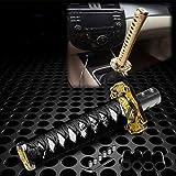 Samurai Sword Black White Shift Knob Shifter Alloy Katana Adapter Universal 26cm