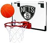 Rawlings NBA Game On Polycarbonate (PC) Mini Basketball Hoop Set, Brooklyn Nets