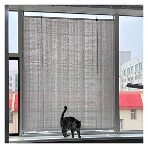 Exterior Cortina Enrollable, Persianas De Sombra Panel De Pantalla De Privacidad, Tejido De Malla Transpirable Luz De Filtro Enfriar Porche O Terraza Incluye 2 Ganchos (Color : Gray, Size : 1x1.5m)