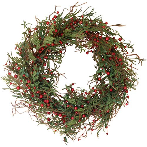 Winter Berry Christmas Holly Pine Wreath