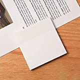 Translucent Sticky Notes, Clear Post It Notes, Transparent Sticky Notes,See Through Sticky Notes, Waterproof Self-Adhesive Pad (7.6CMX7.6 CM, 250 Sheets)
