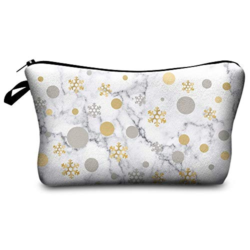 Fashion Makeup Brush Bag for Women 3D Print Snowflake Famale Handbag Purse Organizer B 22*13.5*18cm