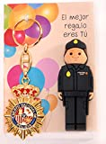 POLICIA Nacional ESPAÑOL USB de 16gb. de Memoria con Llavero Placa POLICIA.