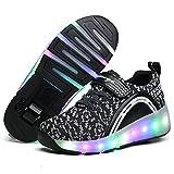 Viken Azer-UK Chaussures à roulettes, 7 Colorés LED Chaussures Baskets pour Garçons et Filles Enfants Lumineuse avec Roue Chaussures de Sport
