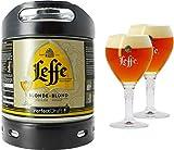 Pack 1 fût 6L Leffe Blonde + 2 verres Leffe Calice - 33 cl