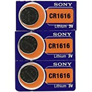 3 Sony CR1616 Lithium Coin Batteries