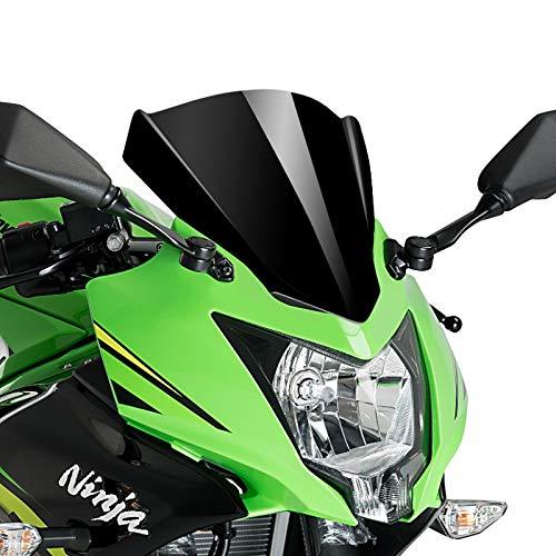 Racingscheibe für Kawasaki Ninja 125 2019 schwarz Puig 3539n