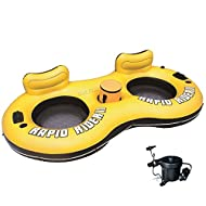 Rapid Rider Ii Tube Inflatable 2 Person Float River Raft Run w/ Quick Fill Pump