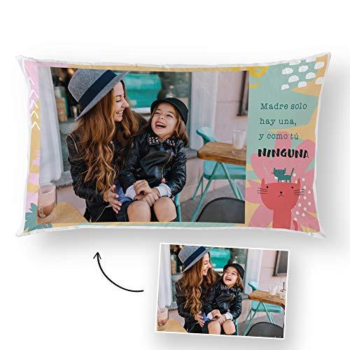 Fotoprix Cojín para Mamá Personalizado con Foto | Regalo para el Día de la Madre Personalizable | Varios diseños Disponibles (Madre 2, 30 x 50 cms)