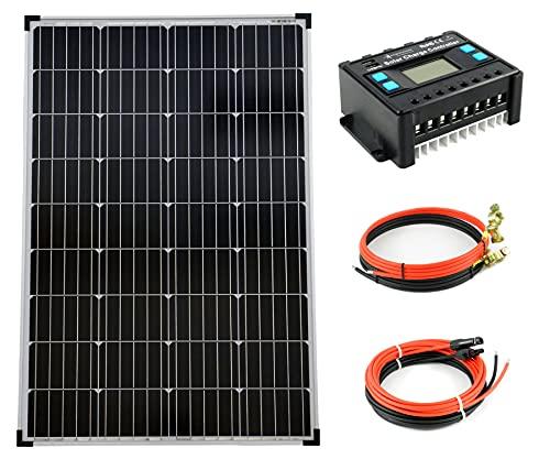 solartronics Komplettset 1x100 Watt Monokristallin 5-Busbars 20A...