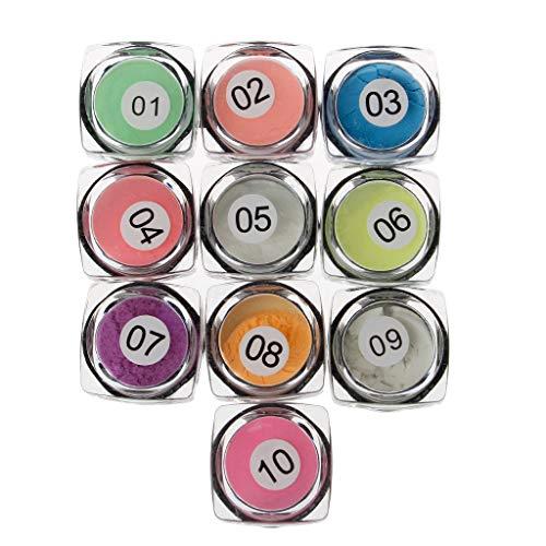 Viesky 10 kleuren licht poeder hars pigment kleurstof UV hars epoxy DIY maken sieraden