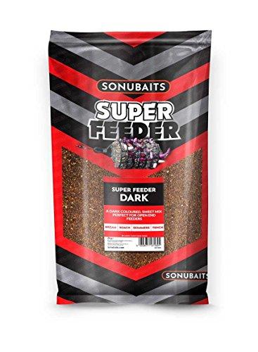 Sonubaits 2kg SUPER Feeder Dark Futter für Brassen Schleien Rotaugen