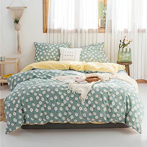 beautiful daisy flower pattern bedding set