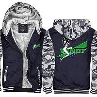トラクタープリントカジュアルステッチジップスウェーチのコート - 十代の贈り物のためのメンズパーカージャケットフード付きセーター Camouflage-XXXXXL