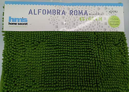 Alfombra Baño Roma Antideslizante 45x65 CM (Verde)