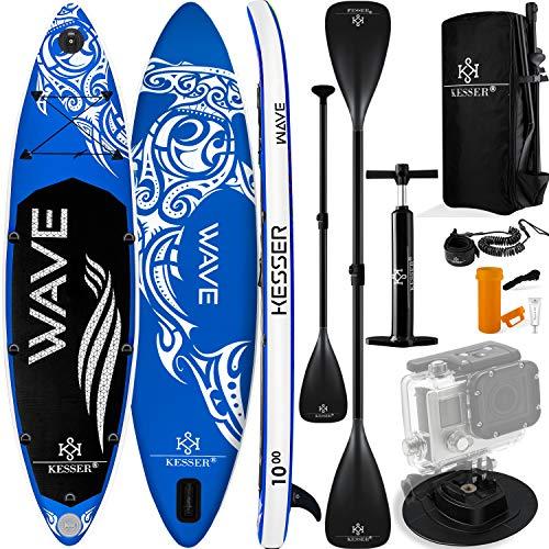 KESSER® SUP Board Set Blau | 380x77x15cm
