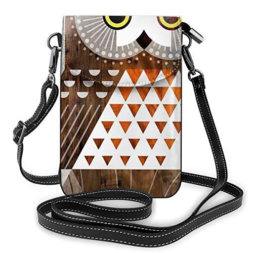 Saw Whet Owl - Bolso bandolera para teléfono móvil, diseño de búho