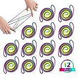 LIHAO 12pcs Jeu de Ficelles Multicolore à Doigts Rainbow Rope Arc-en-ciel Berceau du chat Cat's Cradle String