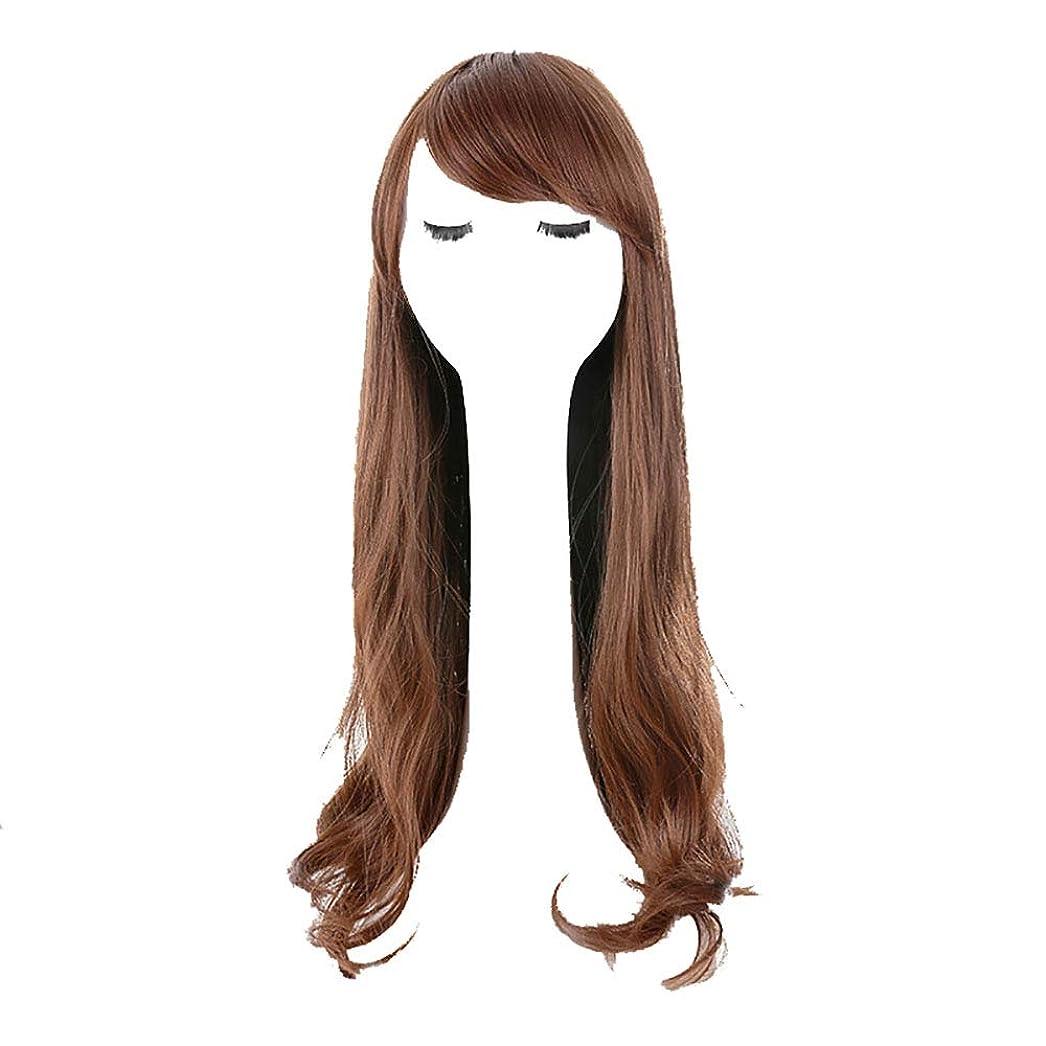 従者若者シェトランド諸島かつら女性の長い縮毛の大きな波のふわふわの丸い顔自然気質の修復の顔かわいい長い髪のフルヘッドドレス