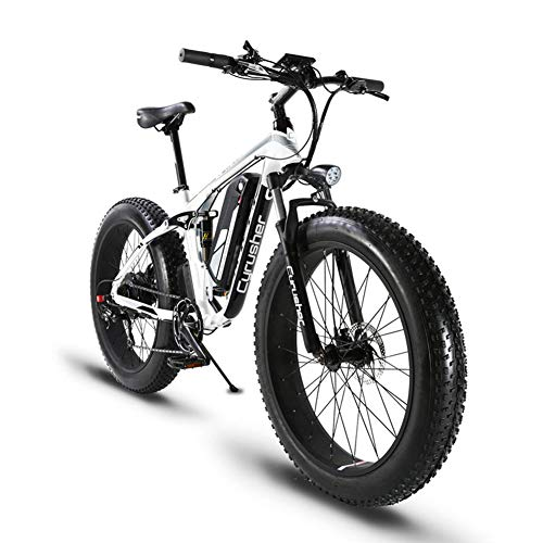 MTB elettrico a vendita limitata mondiale extrbici xf8001000W 48V 13A Bicicletta tutto terreno elettrico supporto di ricarica USB con sospensione completa e tabella dei codici intelligente & grandi pneumatico 26x 4.0